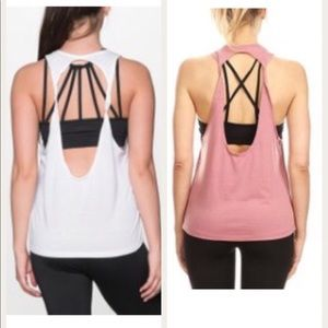 Tops - Bundle of open-back workout tanks